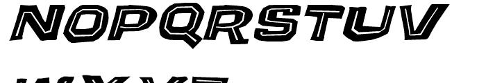 Puzzler Bold Oblique Font UPPERCASE