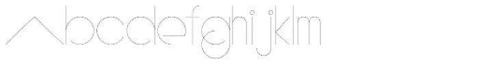 PUJI Extra Light Font LOWERCASE