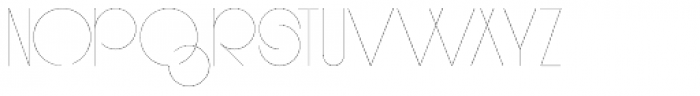 PUJI Narrow Extra Light Font UPPERCASE