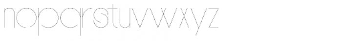 PUJI Narrow Extra Light Font LOWERCASE