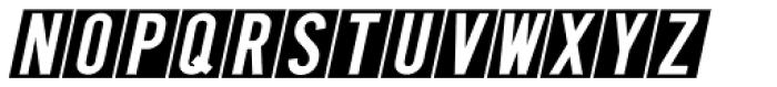 Public Utility Oblique JNL Font UPPERCASE