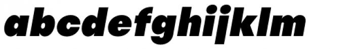 Publica Sans Black Italic Font LOWERCASE