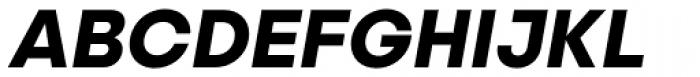 Publica Sans Bold Italic Font UPPERCASE