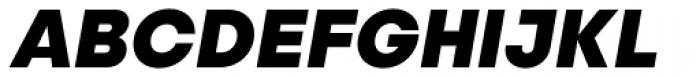 Publica Sans Extra Bold Italic Font UPPERCASE