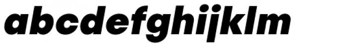 Publica Sans Extra Bold Italic Font LOWERCASE
