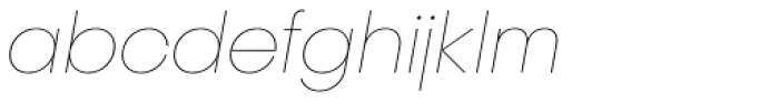 Publica Sans Extra Light Italic Font LOWERCASE