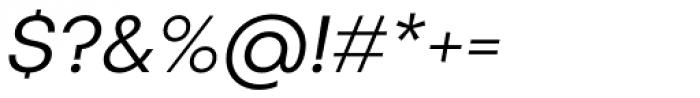 Publica Sans Light Italic Font OTHER CHARS