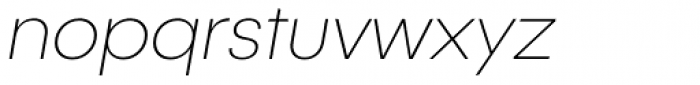 Publica Sans Thin Italic Font LOWERCASE