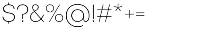 Publica Sans Thin Font OTHER CHARS