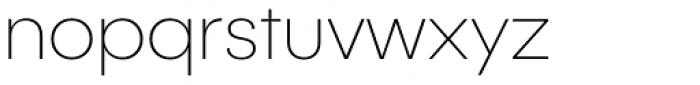 Publica Sans Thin Font LOWERCASE