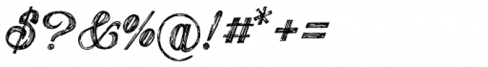 Publishing Draft Script Font OTHER CHARS