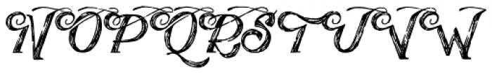 Publishing Draft Script Font UPPERCASE