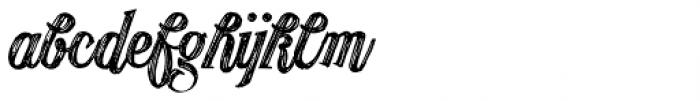 Publishing Draft Script Font LOWERCASE