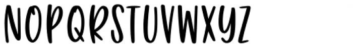 Puckery Tart Regular Font LOWERCASE