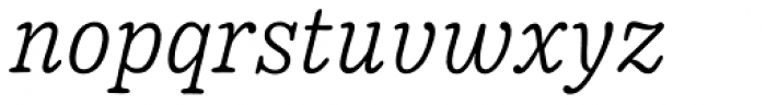 Pueblito Extra Light Italic Font LOWERCASE