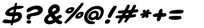 Pugnax Bold Italic Font OTHER CHARS