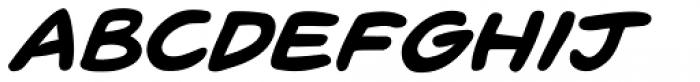 Pugnax Bold Italic Font UPPERCASE