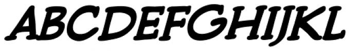 Pulp Fiction Bold Italic Font UPPERCASE