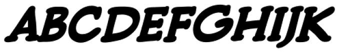 Pulp Fiction Heavy Italic Font UPPERCASE