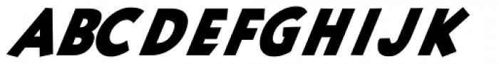 Pulpular Oblique Font UPPERCASE