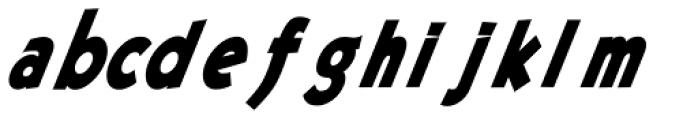 Pulpular Oblique Font LOWERCASE