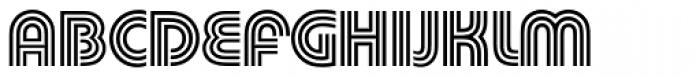 Pump Pro Triline Font UPPERCASE