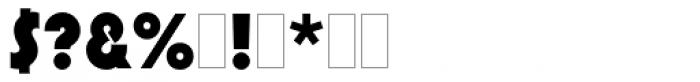 Pump Font OTHER CHARS