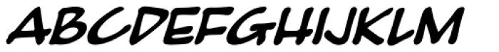 Pumpkinseed Black Oblique Font UPPERCASE