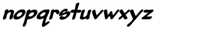 Pumpkinseed Black Oblique Font LOWERCASE