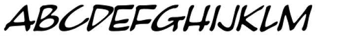 Pumpkinseed Heavy Oblique Font UPPERCASE
