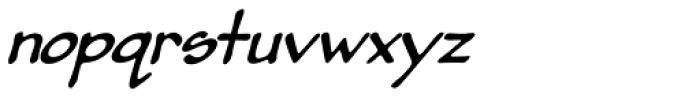 Pumpkinseed Heavy Oblique Font LOWERCASE