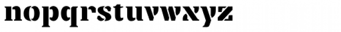 Punch Pro Wedge Font LOWERCASE