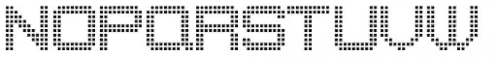 Punch Tape JNL Font LOWERCASE