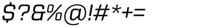 Purista Medium Italic Font OTHER CHARS