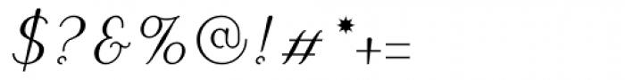 Puritas Medium Italic Font OTHER CHARS