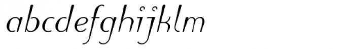 Puritas Medium Italic Font LOWERCASE