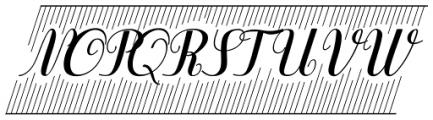 Purple Deco Font UPPERCASE