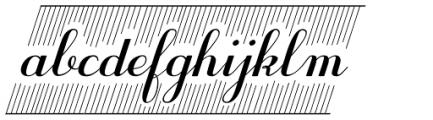 Purple Deco Font LOWERCASE