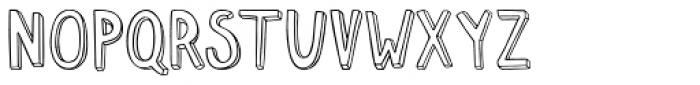 Push Ups Weak Font UPPERCASE