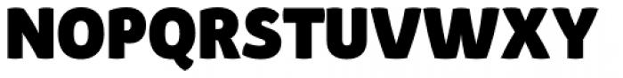 Pusia Extra Bold Font UPPERCASE