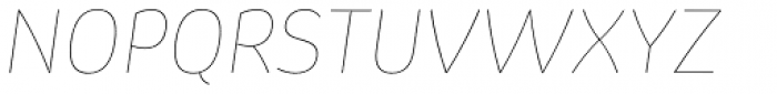 Pusia Hairline Italic Font UPPERCASE