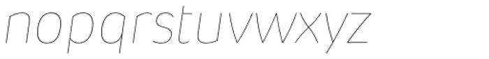 Pusia Hairline Italic Font LOWERCASE