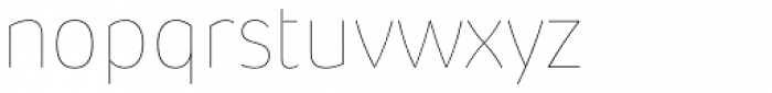 Pusia Hairline Font LOWERCASE