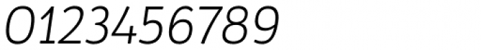 Pusia Light Italic Font OTHER CHARS
