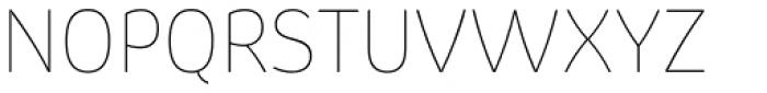 Pusia Ultra Thin Font UPPERCASE