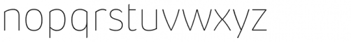 Pusia Ultra Thin Font LOWERCASE