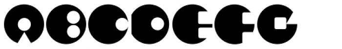 Puzzle Black Font UPPERCASE