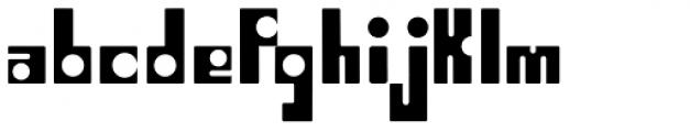 Puzzle Black Font LOWERCASE