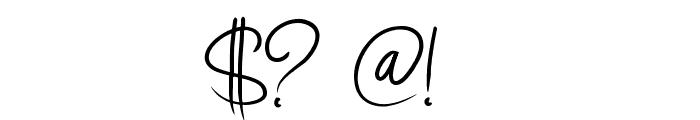 PW Curvy regular script Font OTHER CHARS