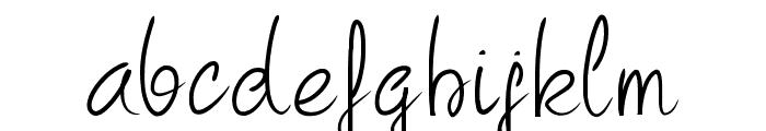PW Curvy regular script Font LOWERCASE